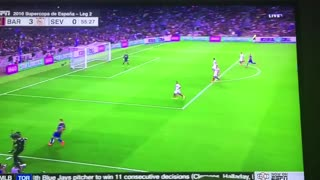VIDEO: Messi scores with a header vs Sevilla (3-0) - Video