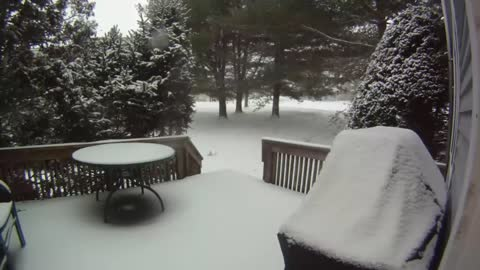 Time lapse captures historic blizzard in the US Northeast