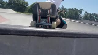 Collab copyright protection - skating rail fall ramp fail - Video