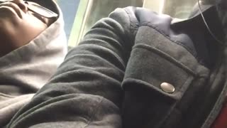 Man films himself other guy falling asleep on him - Video