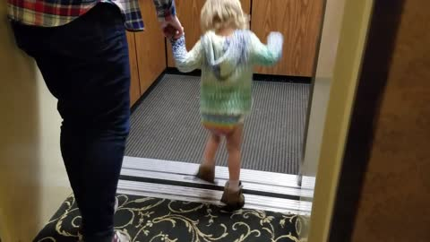 Toddler Shows ONLY Way To Get Into Elevator