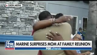 Mom's Epic Reaction to Marine Son's Return Goes Viral - Video