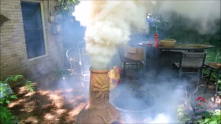 Leafblower Volcano - Video