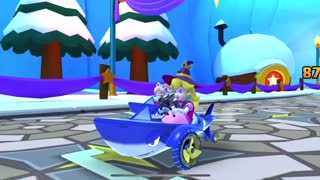 Mario Kart Tour - 3DS Rosalina's Ice World R Gameplay