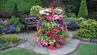 Best original flower beds for Homes cottages. Beautiful square Design.
