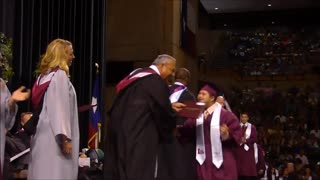 Student With Down Syndrome Has A The Best Reaction To Graduation - Video