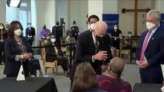 Biden Breaks Social Distancing To Tell Woman To Socially Distance