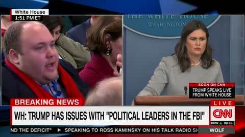 Sarah Sanders: Trump's Tweet Referred to Political Leaders, Not Other Employees at the FBI