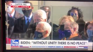 Bill Clinton Appears To Doze Off During Biden Inauguration Speech