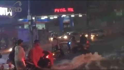 Worst monsoon rains in human history in Vietnam