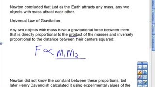 Newton's Universal Law of Gravitation Lesson