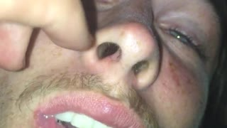 Guy green shirt drunk asleep getting face played with  - Video