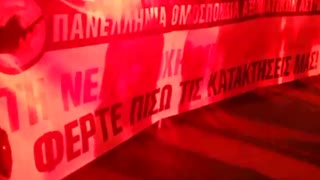 Security forces protest in Thessaloniki - Video