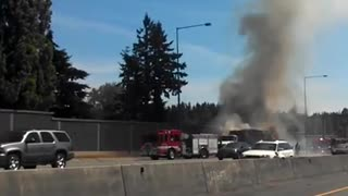 405 Road-Side Fire - Video