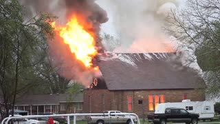 Church fire - Video