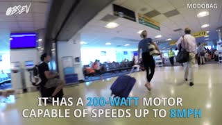 Motorized Luggage Allows You To Ride Through The Airport - Video