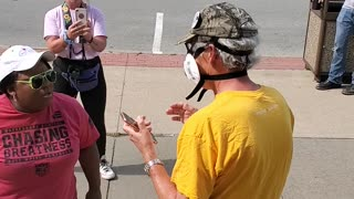 Woman Takes Issue With Protesters at Juneteenth Rally