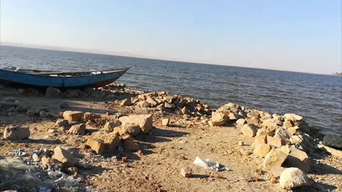 Old Fishing Boats Discovered On Ancient Qarun Lake Egypt