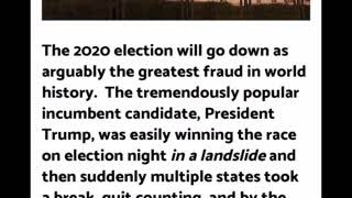 BREAKING: ACCURATE List Of Election Fraud Cases