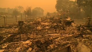 "California ""Valley Fire"" leaves path of destruction - Video"