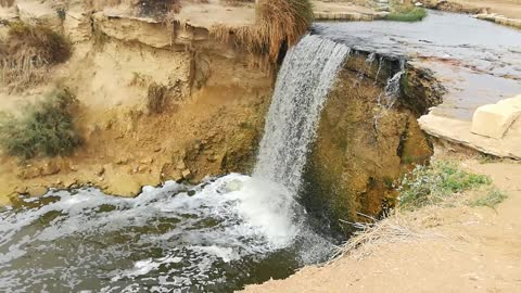 Tourist Enjoys Day Tour Visit To Old Waterfalls Of Wadi El Rayan Egypt