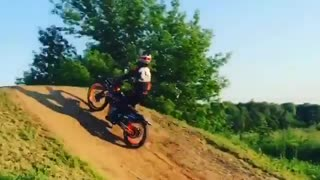 Backflip on a motorcycle