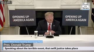 Trump speaks about George Floyd, wanting swift justice