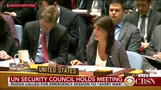 Nikki Haley rips Russia on the floor of the UN over Syria!