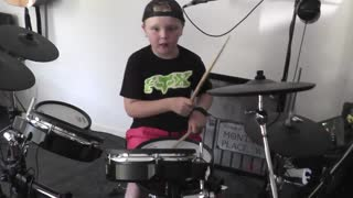 Thunder - Drum Cover 8 years old