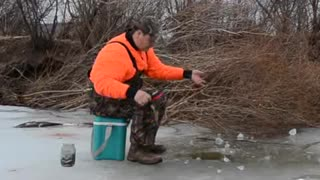 Winter fishing - Video