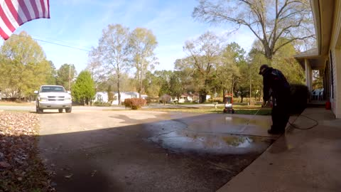 Cleaning a Driveway