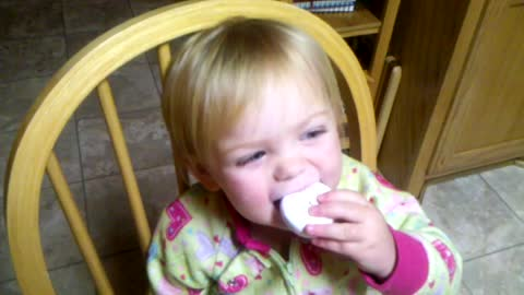 Adorable Toddler Eats Donut In Funniest Possible Way