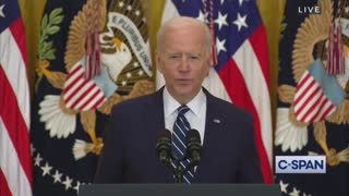 Biden's Brain Freezes During First Press Conference Of His Presidency