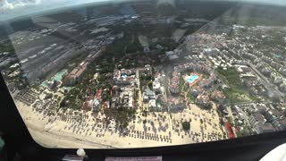 Helicopter Flight Over Dominican Republic
