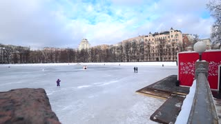 Patriarchal pond. Russia Moscow  - Video