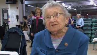 Centenarian Still Has Spring In Her Step - Video