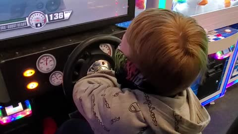 Hope he is a better driver when the time comes