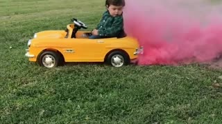 Gender reveal doesn't go as planned for this toddler