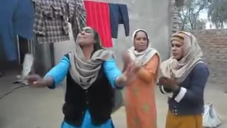 Village ladies dancing and singing  - Video
