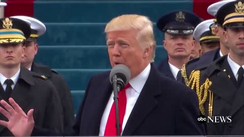 BIZARRE Appearance of Military Behind Trump during speech Jan 24, 2017