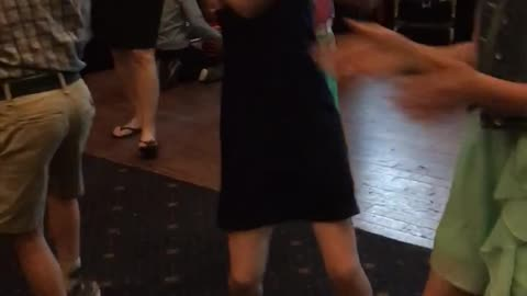 9 year old doing cha cha slide