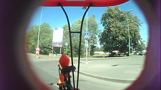 Pedicab Accident Sends Driver Flying - Video