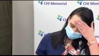 Nurse PASSES OUT LIVE on TV after taking COVID 19 VACCINE!