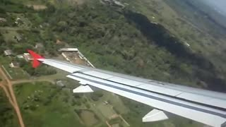Airplane takeoff with super radical curve !!