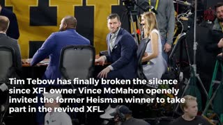 """Tim Tebow Hasn't Given XFL """"Any Thought"""" - Video"""