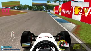 Formula Vee 1 Hotlap & 1 Race Lap with AI 120% Assists OFF - Video