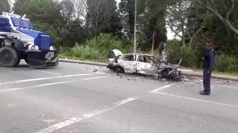 Vehicle torched on 19