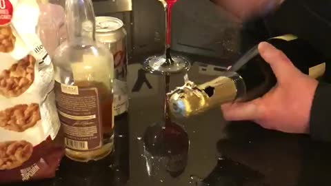 Pizza Cutter Makes for Messy Champagne Opening