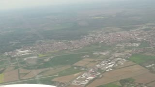 View from an airplane in flight - Video