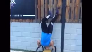 Handstand into a faceplant